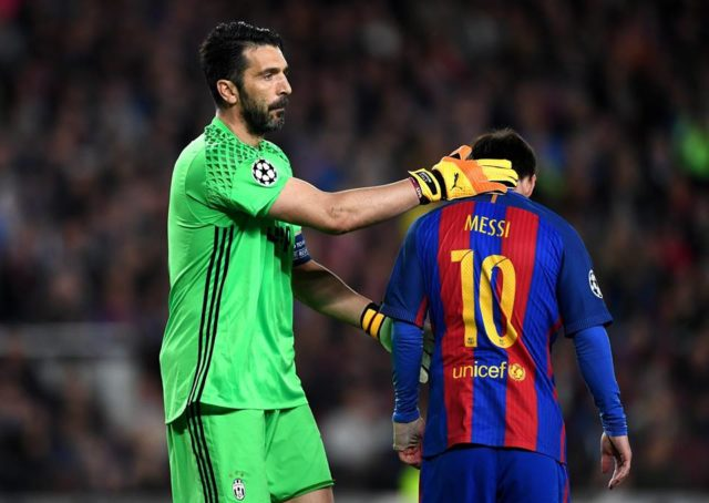 Barcellona Juventus Champions League Buffon consola Messi