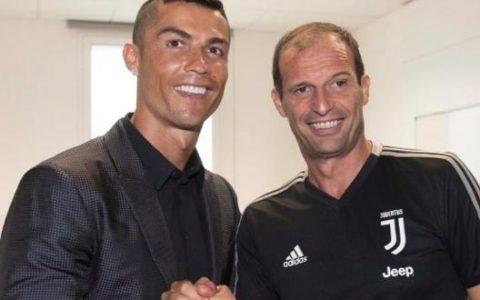 Cristiano Ronaldo e Max Allegri